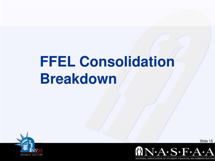 FFEL Consolidation Breakdown