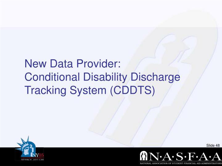 New Data Provider: