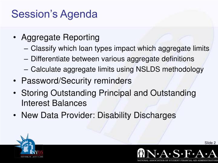 Session s agenda