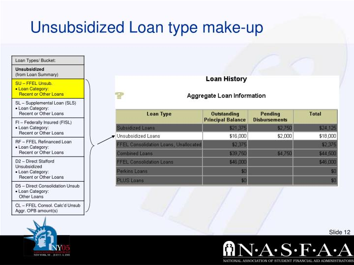 Unsubsidized Loan type make-up