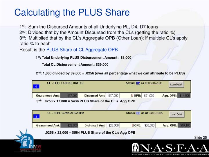 Calculating the PLUS Share