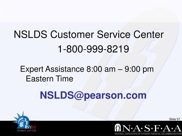NSLDS Customer Service Center