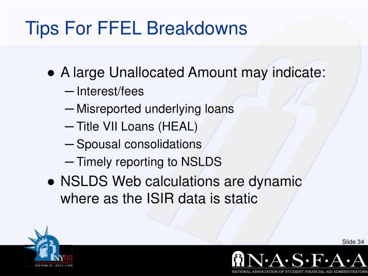 Tips For FFEL Breakdowns