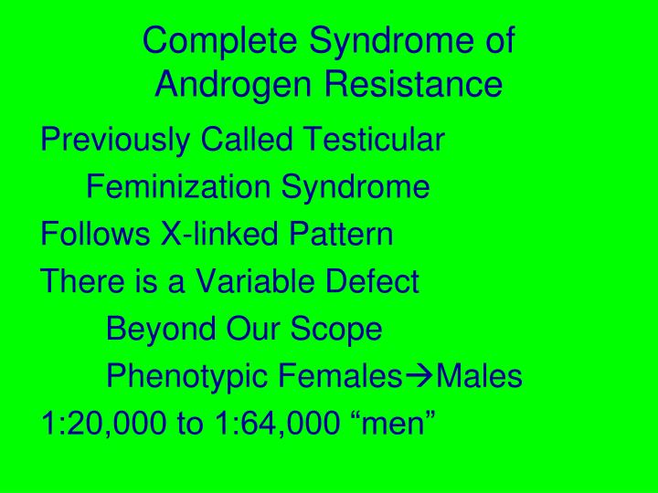 Complete Syndrome of