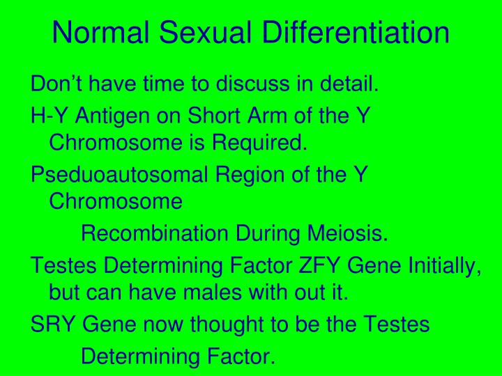 Normal Sexual Differentiation
