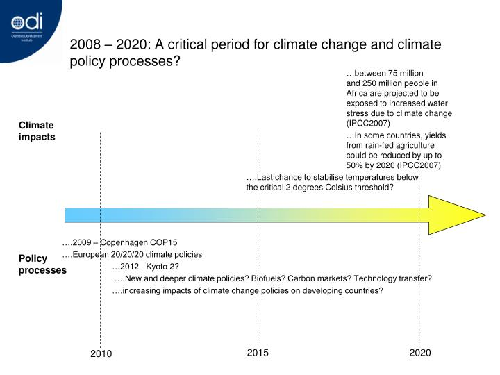 2008 2020 a critical period for climate change and climate policy processes