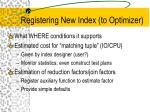 registering new index to optimizer