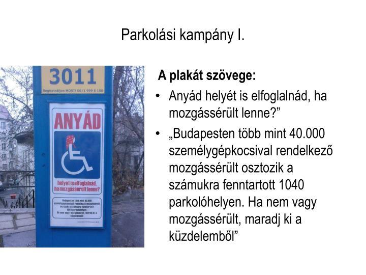Parkolási kampány I.