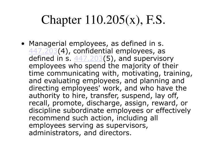 Chapter 110.205(x), F.S.