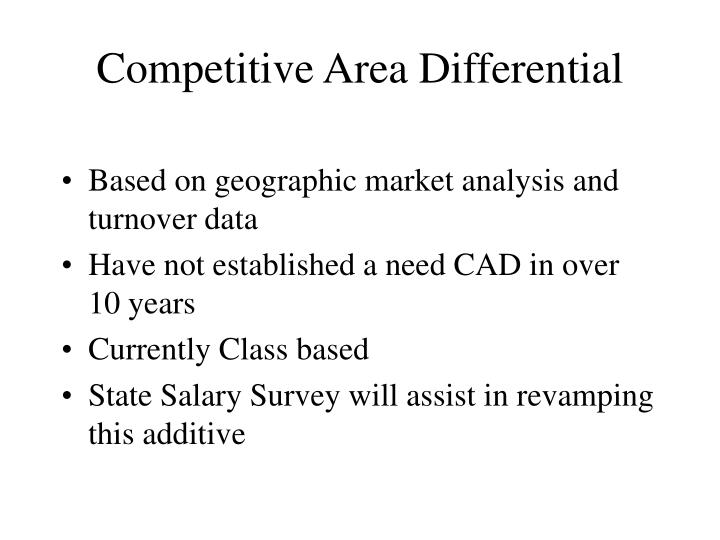 Competitive Area Differential
