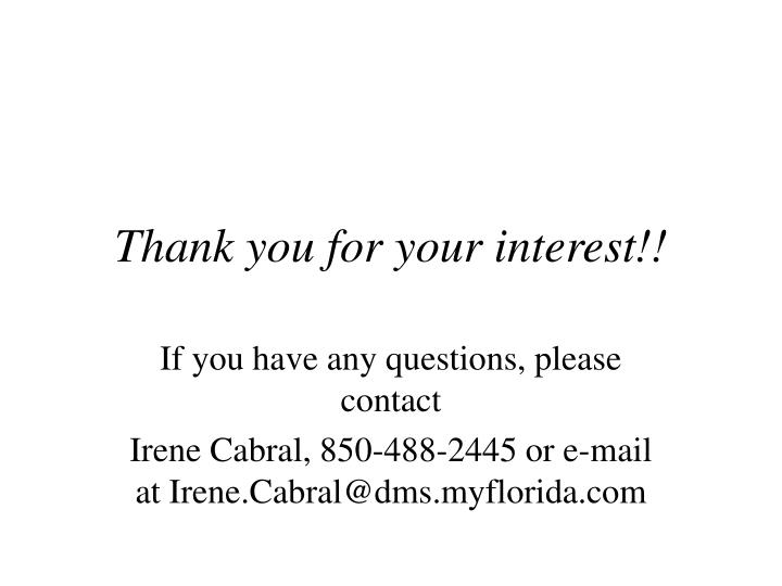 Thank you for your interest!!
