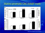 statins promote cac vadt trail