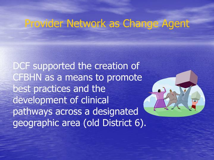 Provider network as change agent