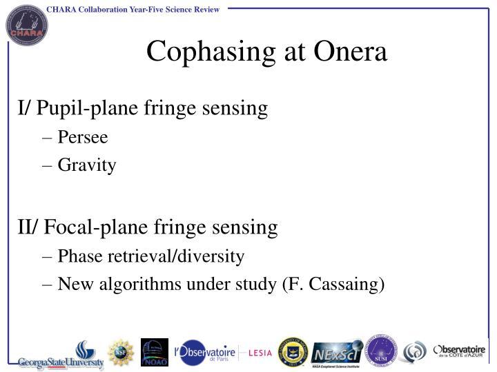 Cophasing at onera