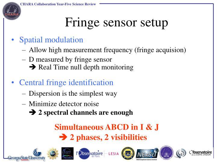 Fringe sensor setup