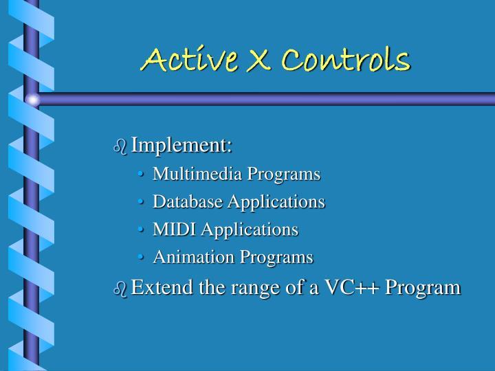 Active X Controls