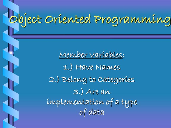 Object oriented programming1