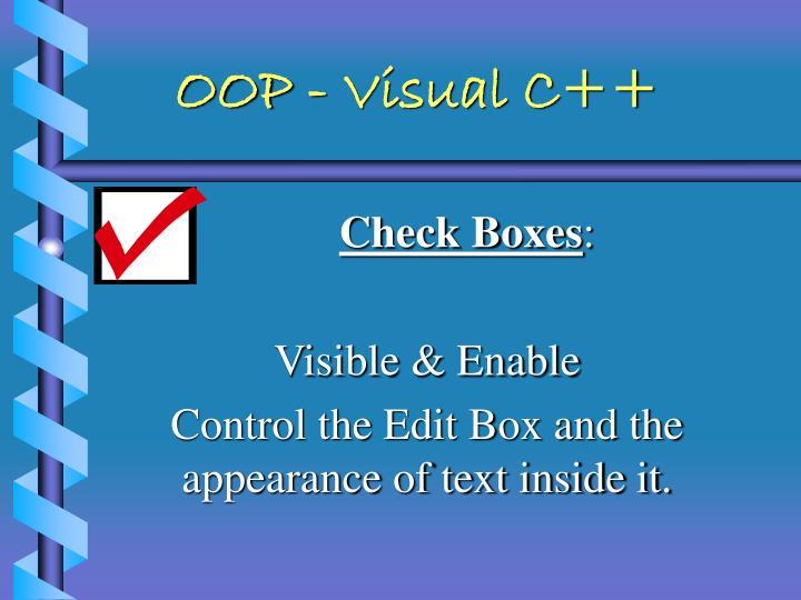 OOP - Visual C++