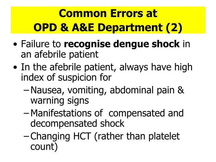 Common Errors at