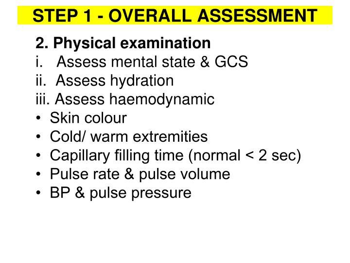 2. Physical examination
