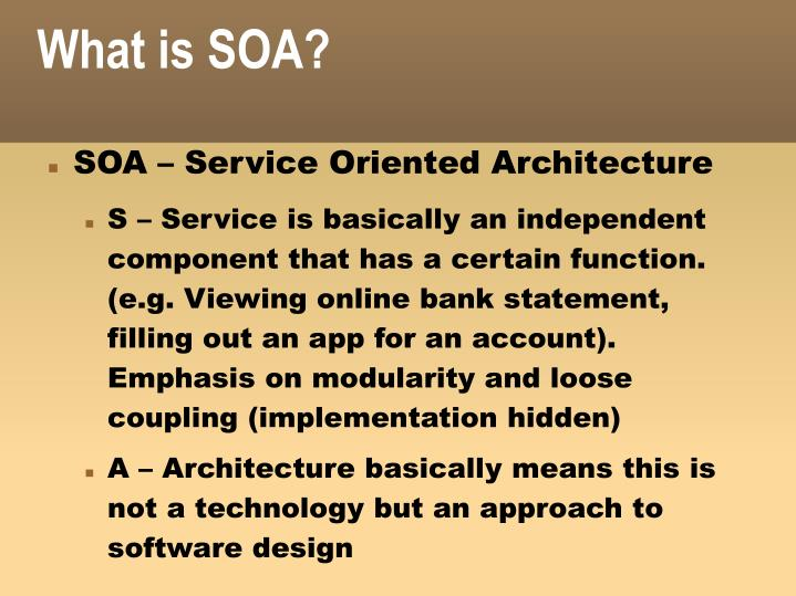 What is soa