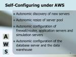 self configuring under aws