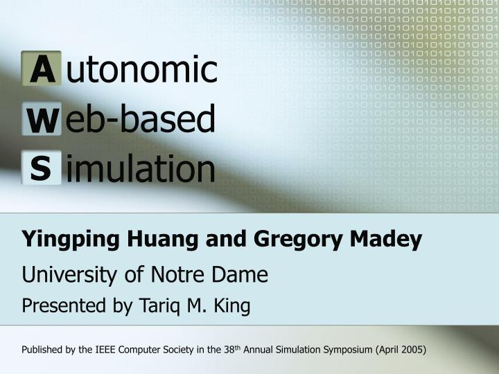 yingping huang and gregory madey