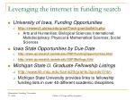 leveraging the internet in funding search1