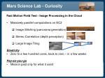 mars science lab curiosity