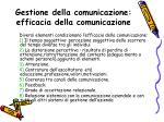 gestione della comunicazione efficacia della comunicazione1