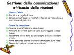 gestione della comunicazione efficacia delle riunioni2