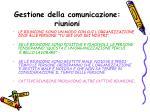 gestione della comunicazione riunioni