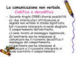 la comunicazione non verbale codifica e decodifica