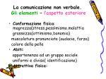 la comunicazione non verbale gli elementi l aspetto esteriore