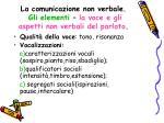 la comunicazione non verbale gli elementi la voce e gli aspetti non verbali del parlato