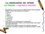 la comunicazione non verbale le funzioni esprimere emozioni