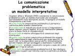 la comunicazione problematica un modello interpretativo