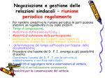 negoziazione e gestione delle relazioni sindacali riunione periodica regolamento