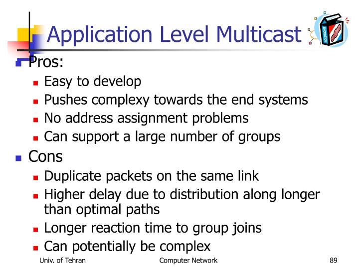 Application Level Multicast