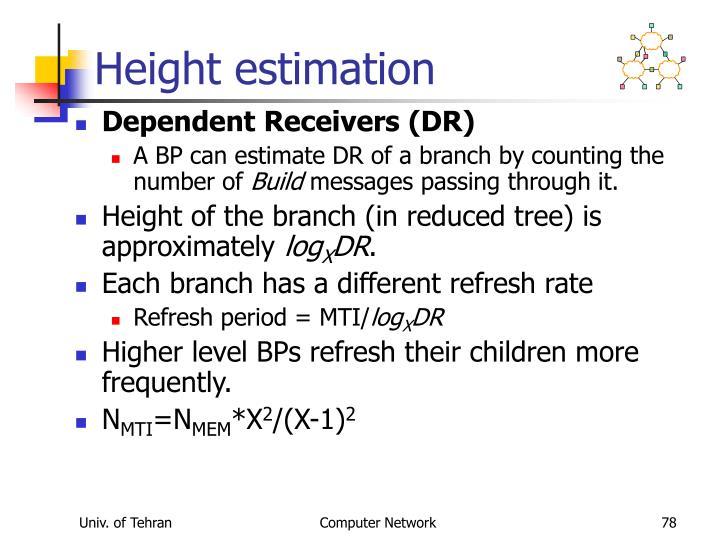 Height estimation
