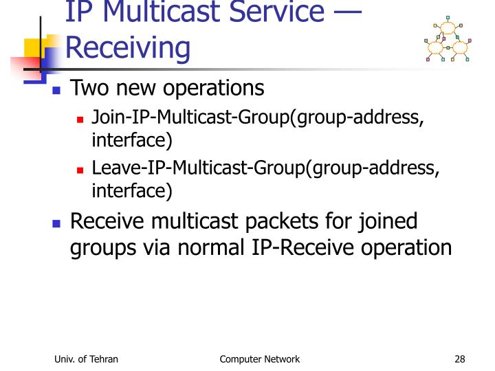 IP Multicast Service — Receiving