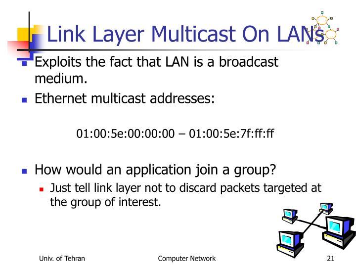 Link Layer Multicast On LANs