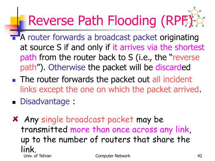 Reverse Path Flooding (RPF)