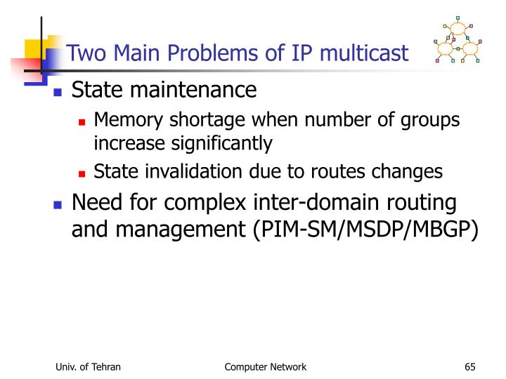Two Main Problems of IP multicast