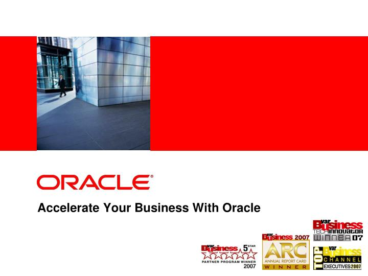 accelerate your business with oracle n.