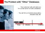 the problem with other databases