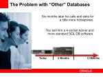 the problem with other databases1