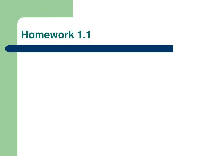 Homework 1.1