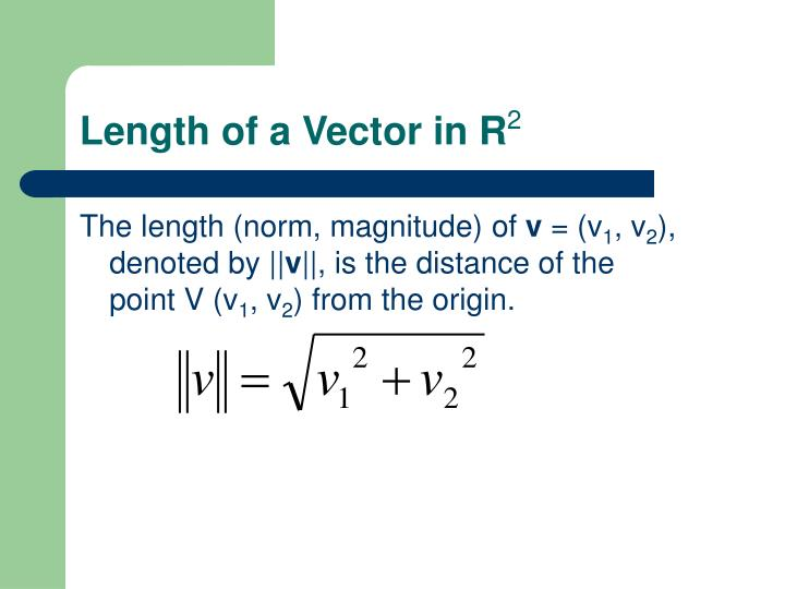 Length of a Vector in R