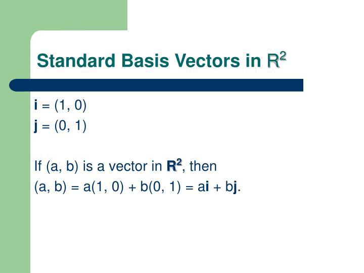 Standard Basis Vectors in
